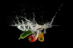 scotch bonnets in water