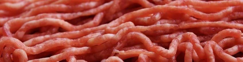 Close up image of raw mince meat