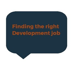 finding the right development job link