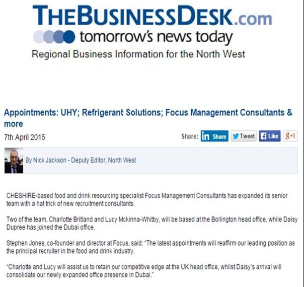 The Business Desk article on FMCL