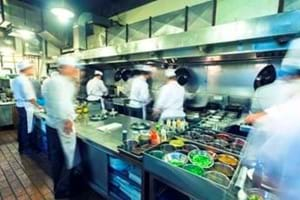 busy Chefs in a kitchen working